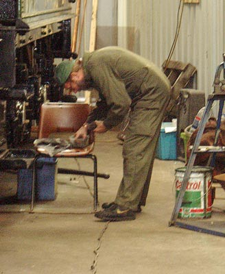 Alan Watson went around all the tender axleboxes checking all was in order with the pads and lubrication. August 21 2004