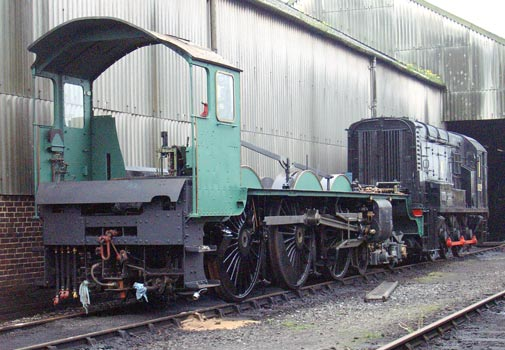 With the road clear the chassis was shunted down the yard towards the turntable. May 11 2004