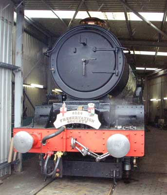6024 now has a black smokebox again. July 03 2004