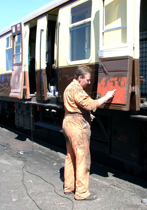 Dave Fuszard fills one of the doors. August 07 2004