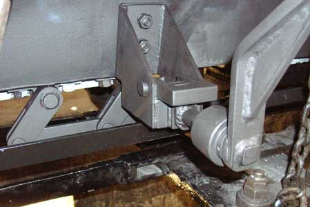 A close up of the hopper door operating mechanism. August 21 2004