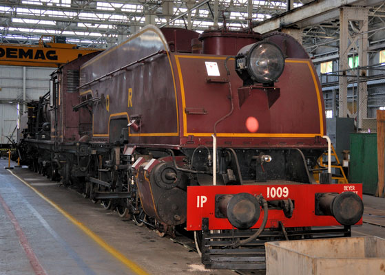 QR Garratt 1009 in the shops at Ipswich railway museum. 13 June 2009
