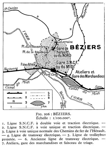 Béziers as it was in the 1950s.