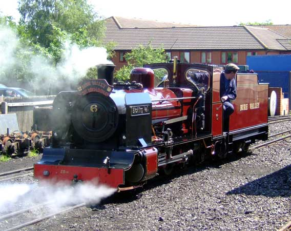 BVR No.6 'Blickling Hall' sets back at Alysham loco depot. 28 June 2006