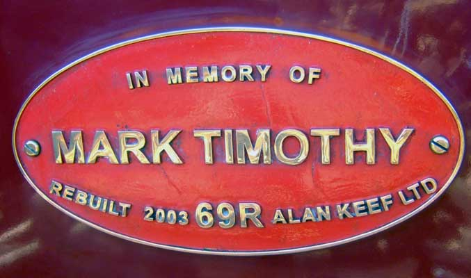 'Mark Timothy' was named in memory of the owner's late son. 28 June 2006