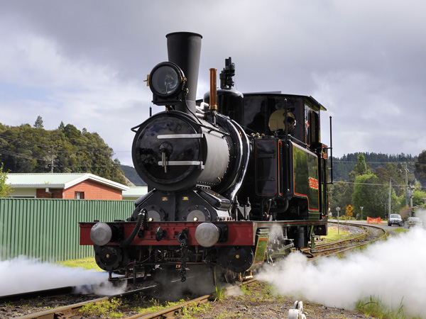 West Coast Wilderness Railway No.3 on test in November 2012
