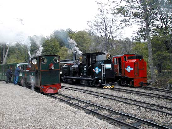 At the other end of Estación Parque Nacional and looking ready top head away are left to right - No.3 'Camila', No.2 'Ing. L.D.Porta' and No.5 'Ing H. R.Zubieta'. 22 November 2006 © Sergio Barral