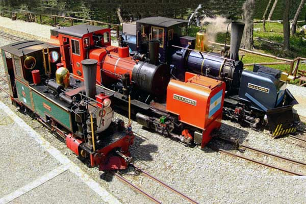 The FCAF steam fleet in late 2006, left to right - No.3 'Camila', No.5 'Ing H. R. Zubieta' and No.2 'Ing. L.D.Porta'. © FCAF, courtesy Shaun McMahon.