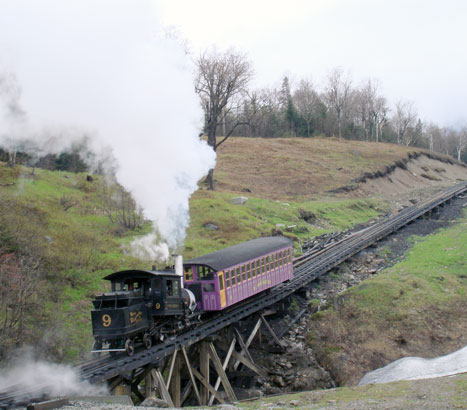 Mount Washington No.9 in 2006. Now running on liquid fuel and with excellent combustion! 18 May 2006. © N.A.H. Day