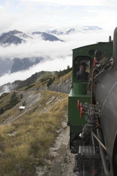 On the ascent of the Schafberg in Austria with loco Z11. 19 October 2007. © Brian Bane