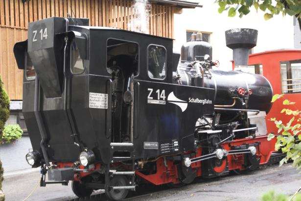 A rear 3/4s view of a very clean Z14. Being a modern steam loco it is not surprising it keeps itself relatively clean! 19 October 2007. © Brian Bane
