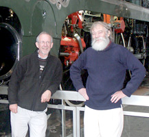 Chris Newman (left) & John Wright in front of 232U1. October 9 2003