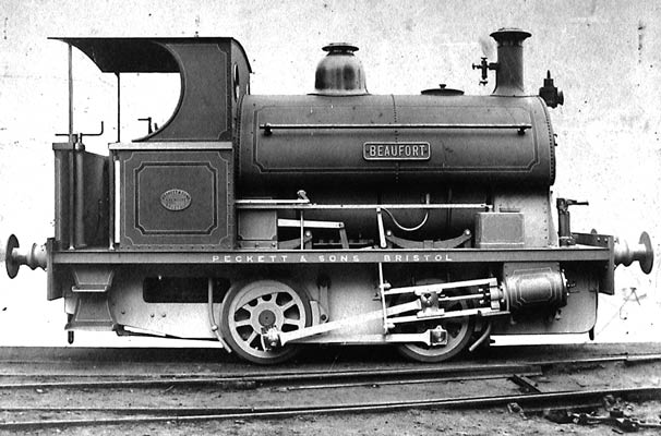No.1011 of 1903. Named 'Beaufort' this standard gauge 0-4-0st was purchsed by the Ebbw Vale Company of Monmouthsire. Photo courtesy of Clive Parker.