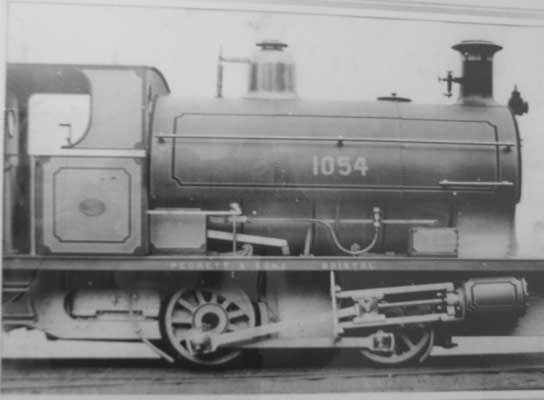 No.1054 of 1907. This loco was, at one time, in GWR stock as No. 927. Thanks to Allan Pendragon for the photo and Geoff Pethick for the info.