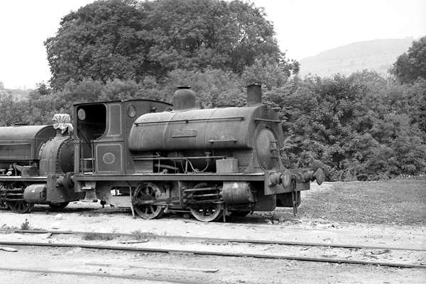 No.1257 of November 1912. Named 'Uppingham' this 0-4-0st is seen at Derbyshire Stone, Wirksworth, 11 July 1971. © Steve Price, courtesy of G.A.Cryer