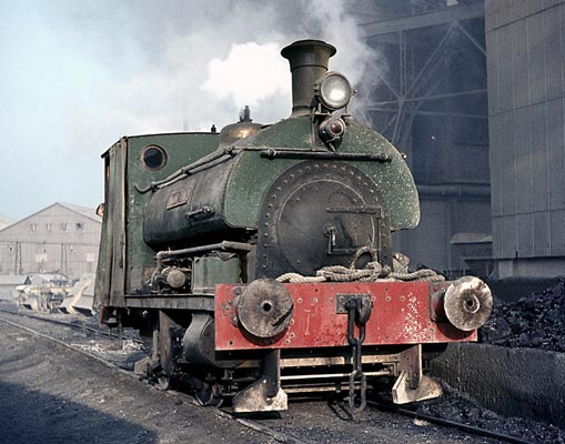 No.1318 of April 1913. This locomotive was named 'Anglo-Dane'. It stands alongside the coal stage at Tunnel Cement Works near Purfleet in Essex. January 1964. © Geoff Plumb