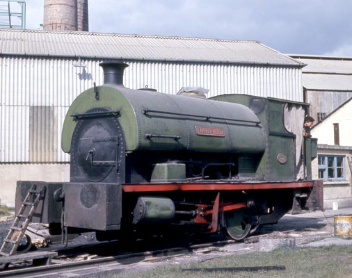 No.1747 of 1928. This 0-4-0st was named 'Longfield'. It is shown operating at Holborough in the late 1960s. © Jon Marsh