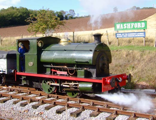 No.1788 of September 1929. Now named 'Kilmersdon', having been based at Kilmersdon colliery, is now resident at Washford of the West Somerset Railway. 07 October 2006