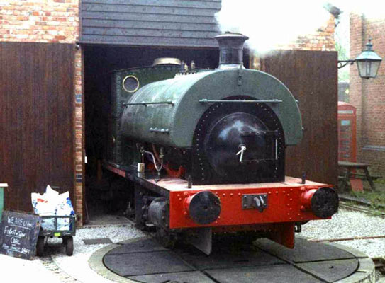 No.1893 of 1936. The loco is seen at Coleford Great Western Railway Museum in 2005 undergoing a steam test following an overhaul. © Sean Walsh