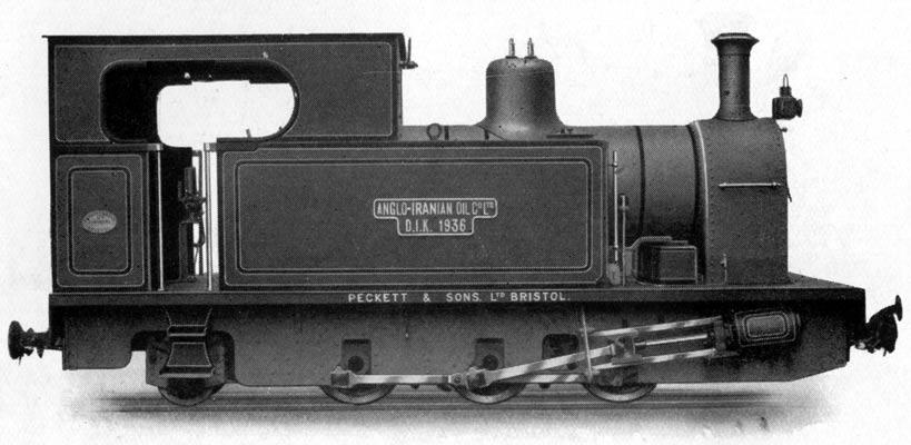 "This 2'6"" gauge 0-6-2t was purchased by the Anglo-Iranian Oil Co. Ltd., now BP."