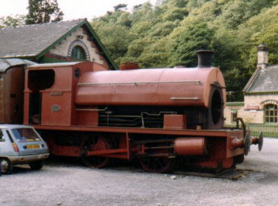 No. 1925 of 1937. This 0-4-0st named 'Caliban' is seen at Haverthwaite on the Lakeside and Haverthwaite Railway in 1979. © Geoff Pethick