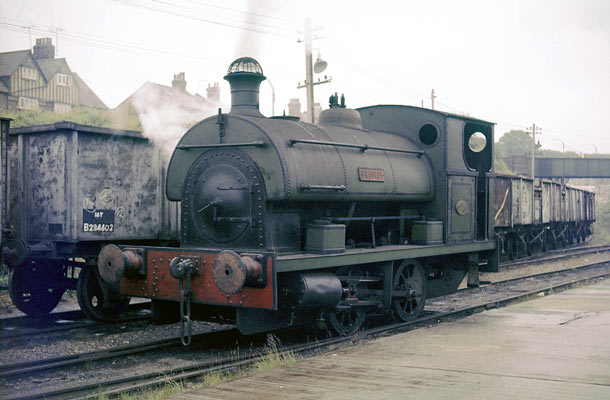 No.1950 a R4 0-4-0st, named 'Bradley' at Northfleet Deep Water Wharf & Storage Company in Kent. 21 September 1963 © Geoff Plumb