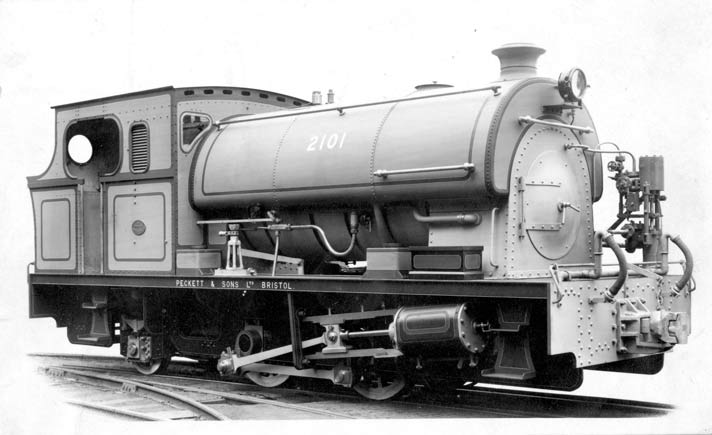 "No.2101 of October 1949. This machine was 3'6"" gauge was built for Rhodesian Iron and Steel Company, Bulawayo. Note the smokebox is hinged on the opposite side to normal. The cylinders were 14"" x 22"". Many thanks to Mike Giles for this information on the loco."