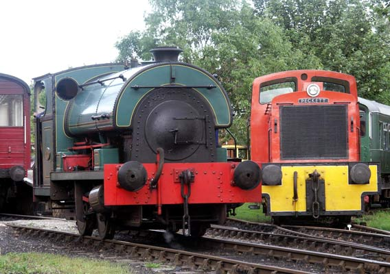 No.2103 in service on the Middleton Railway with No.5003 to the right. © Andrew Johnson