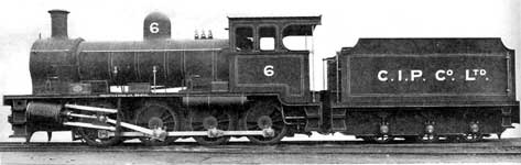 Christmas Island Phosphate Co.'s Railway New 0-8-0  Locomotive.