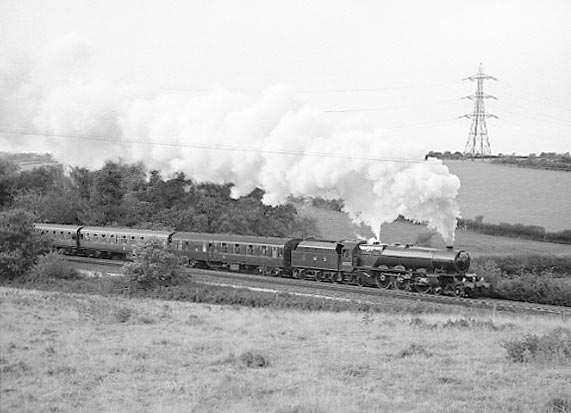 6201 Princess Elizabeth climbs Hemerdon Bank with the return leg of her Bristol - Plymouth - Bristol run. October 19 2002