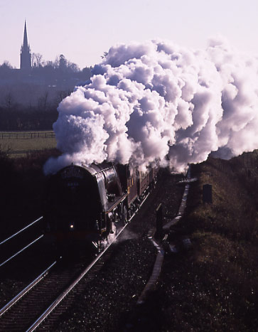 6233 Duchess of Sutherland passing Kings Sutton.