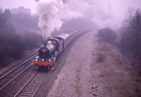 7802 Bradley Manor climbs out of Bristol. March 16 1996