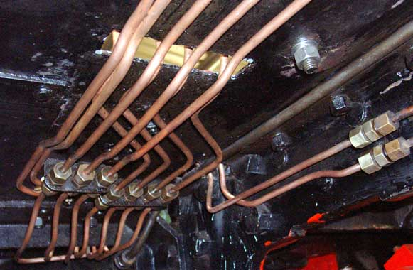 A lot of the lubrication pipework has already been refitted. December 14 2003