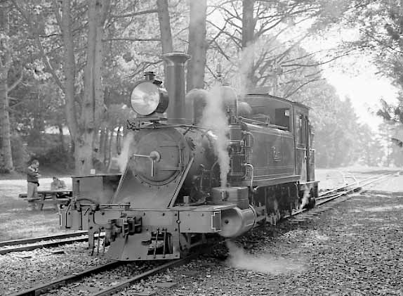 6A at the terminus of the line, Gembrook, more or less ready to head back to Belgrave. May 2002