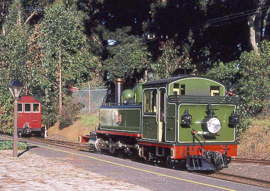 Back at Menzies Creek there was some shunting to be done before heading on the to terminus at Belgrave. May 2002