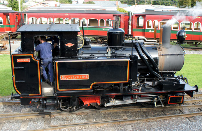 Mount Lyell No.3 - soon to be withdrawn for overhaul and........