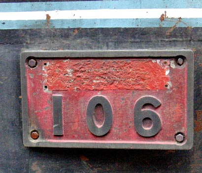 106's remaining numberplate