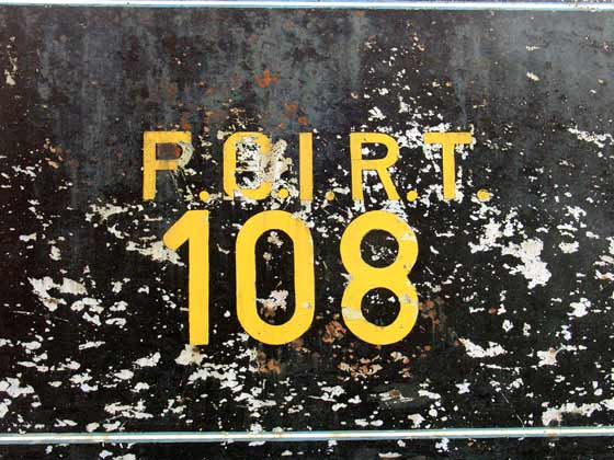 No.108's tender bears a mix of letters from different periods of the lines existance. The name changed several times !t January 23 2004