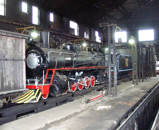 RFIRT 116 inside the locomotive deopt at Rio Turbio. January 23 2004
