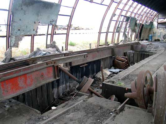 This was a wheel drop inside the heavily vandalised works at Rio Gallegos. January 24 2004